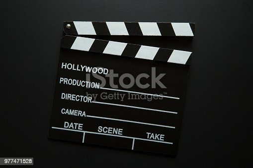istock The vintage clapperboard 977471528