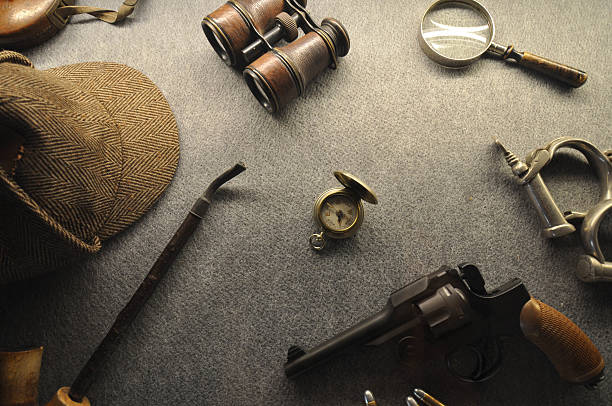 The vintage detective collection The English style and vintage detective collection sherlock holmes stock pictures, royalty-free photos & images