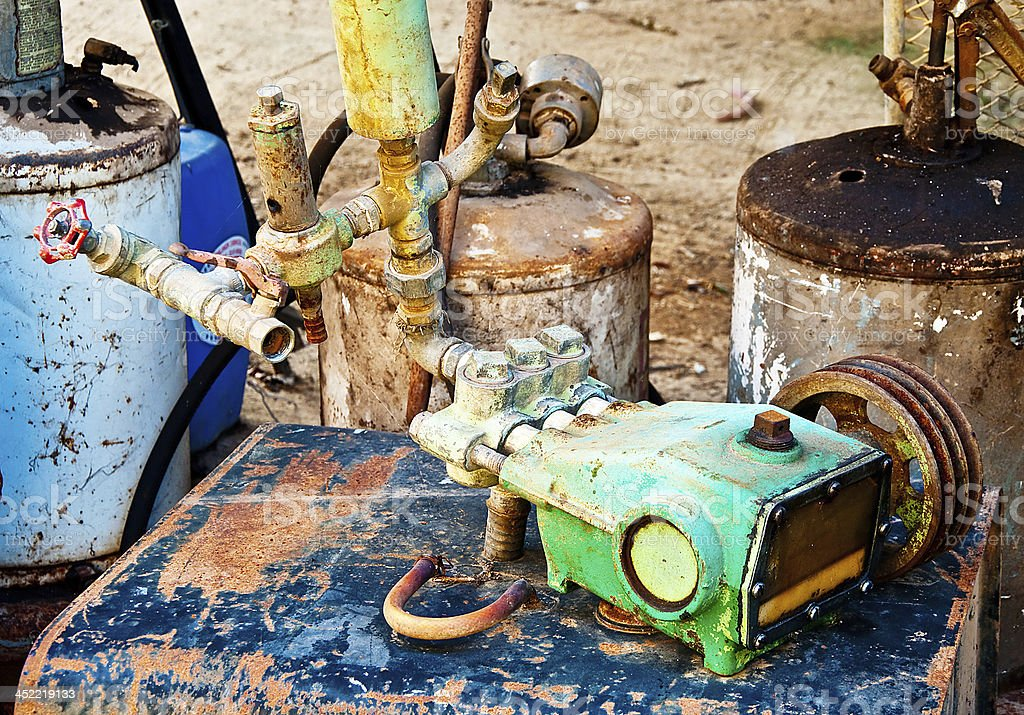 The Vintage equipment of pump oil royalty-free stock photo