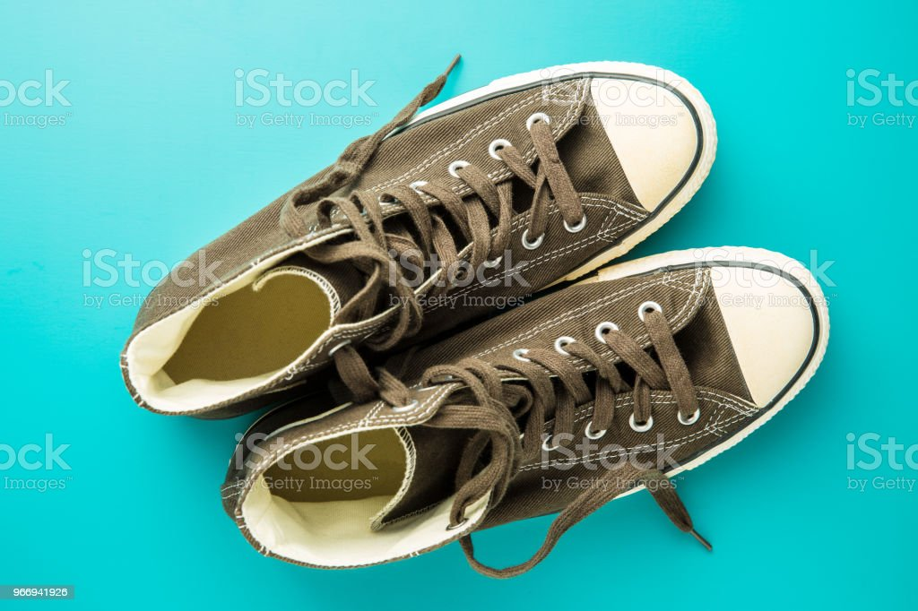 Os tênis vintage - foto de acervo