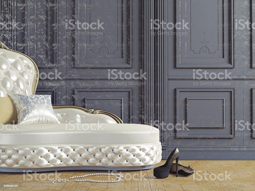 the vintage sofa stock photo