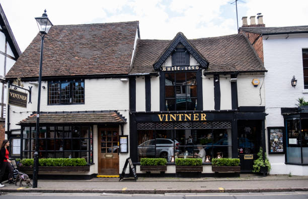 The Vintner Cafe and Wine Bar stock photo