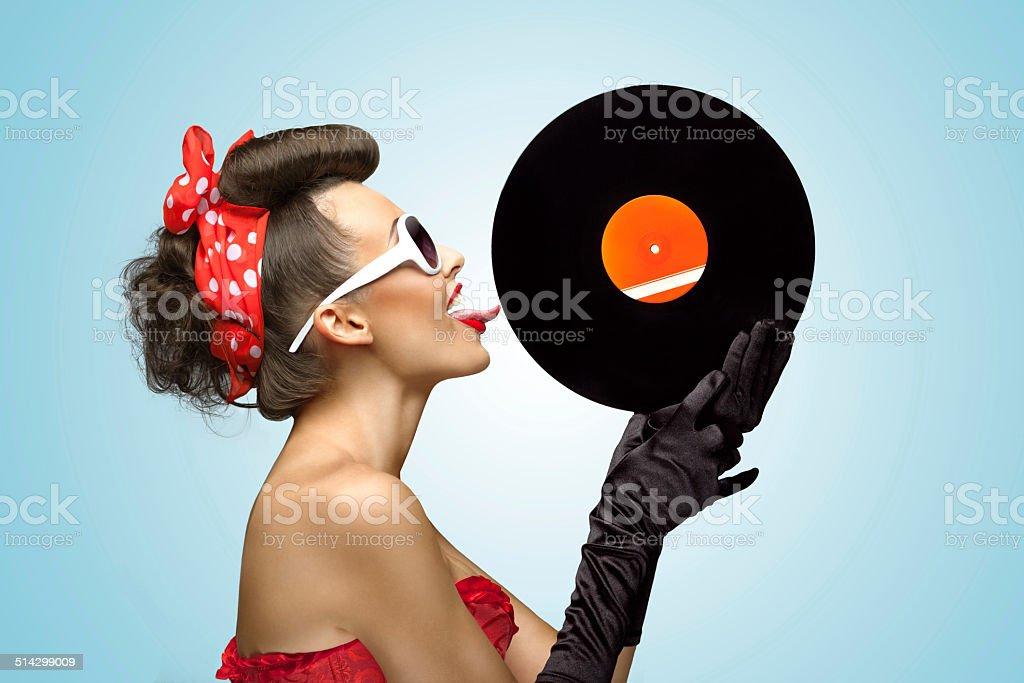 The vinyl desire. stock photo