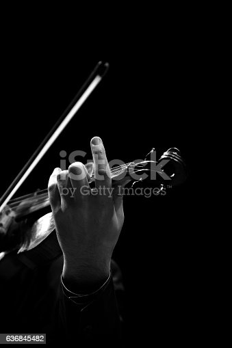 istock The violin in the hands of a musician closeup 636845482