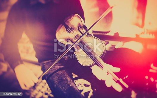 Violin, Player, Jazz, Folk, Music, Old School