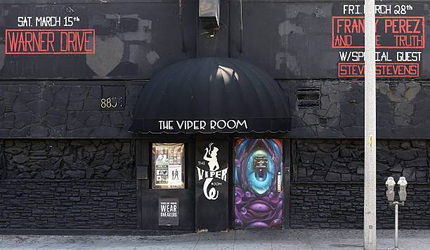 The Viper Room Los Angeles, CA, USA – March 17, 2014: The Sunset Blvd entrance to The Viper Room located in Los Angeles. The Viper Room is a Sunset Strip nightclub opened in 1993 by Johnny Depp. sunset boulevard los angeles stock pictures, royalty-free photos & images