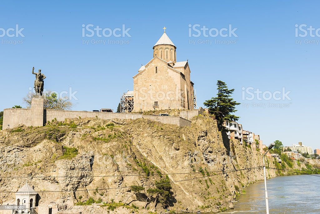 The Virgin Mary Metekhi church royalty-free stock photo