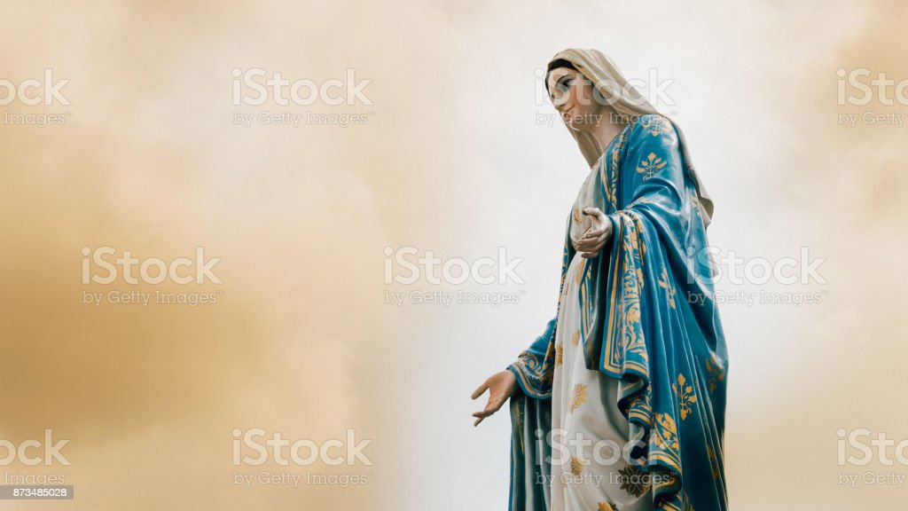 The Virgin Mary statue at The Cathedral of the Immaculate Conception is a Roman Catholic Diocese of Chanthaburi. stock photo