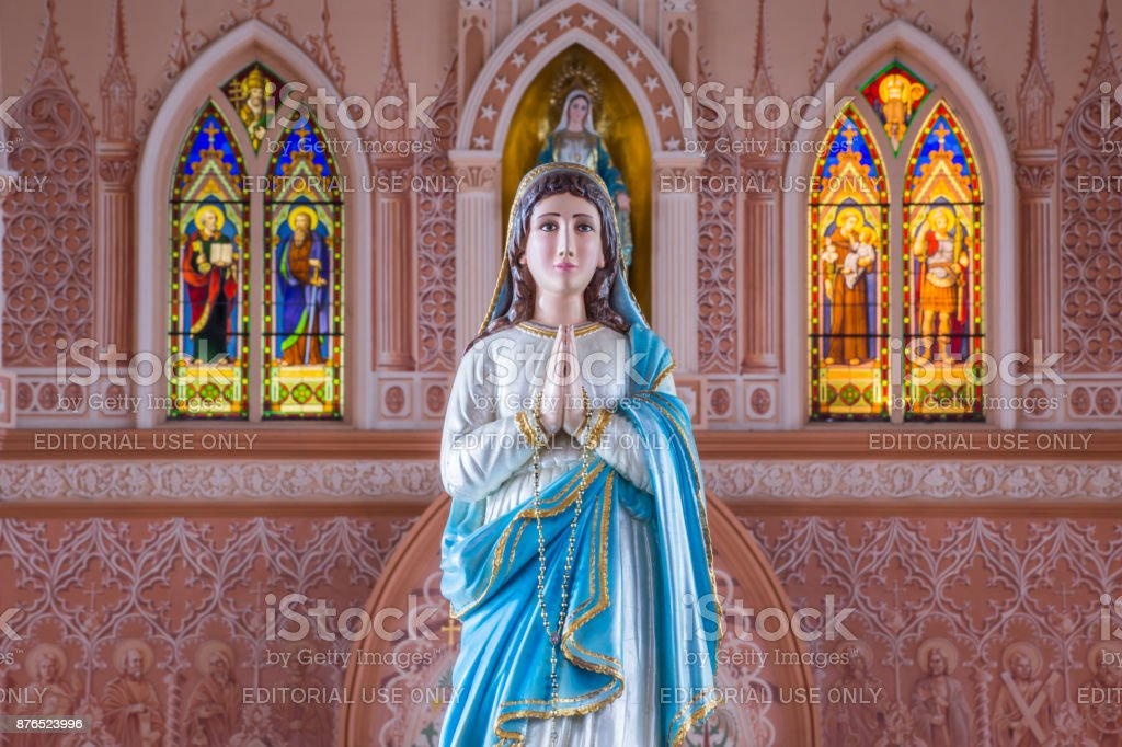 The Virgin Mary statue stock photo