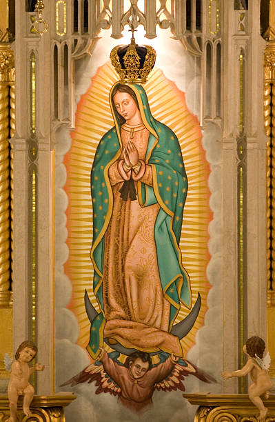 The Virgin of Guadalupe The Virgin of Guadalupe religious saint stock pictures, royalty-free photos & images