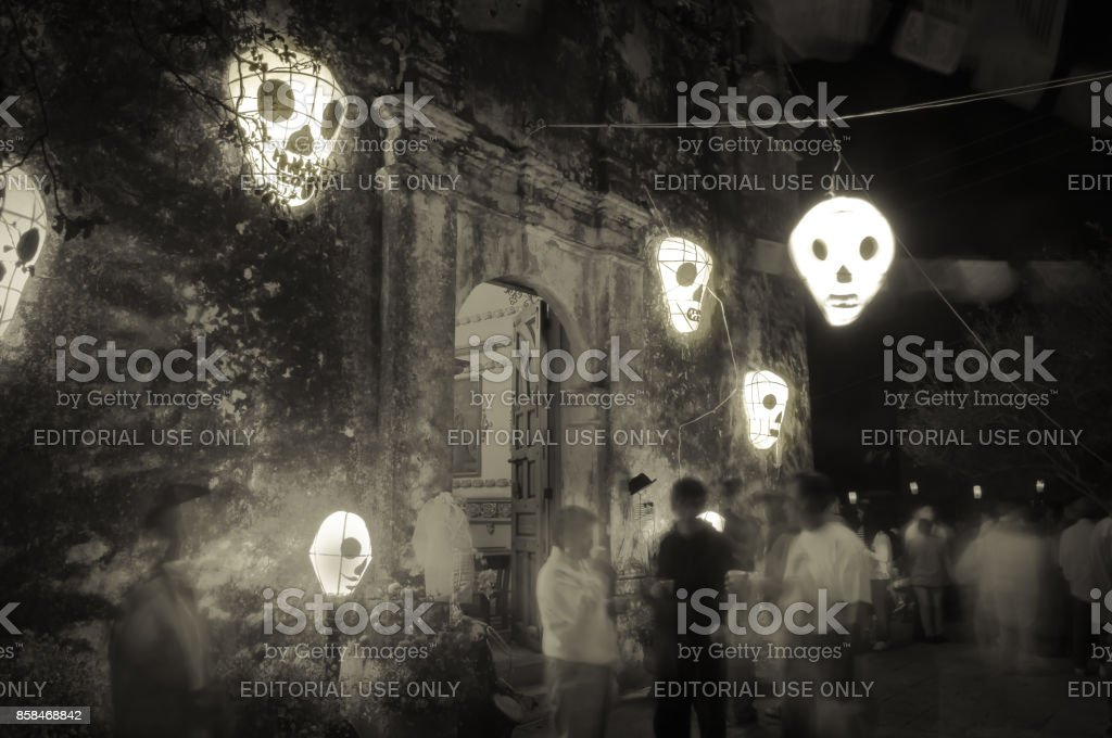 The visit of our dead. stock photo