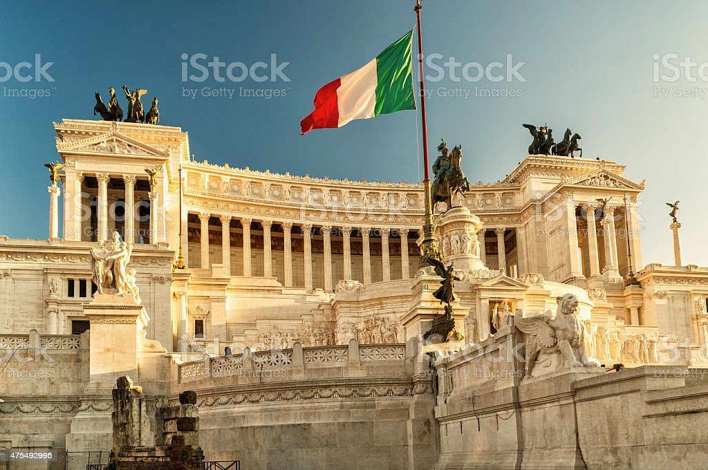 The Vittoriano building on the Piazza Venezia, Rome stock photo