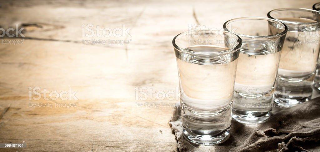 The vodka glass. stock photo