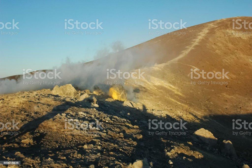 The volcano royalty-free stock photo