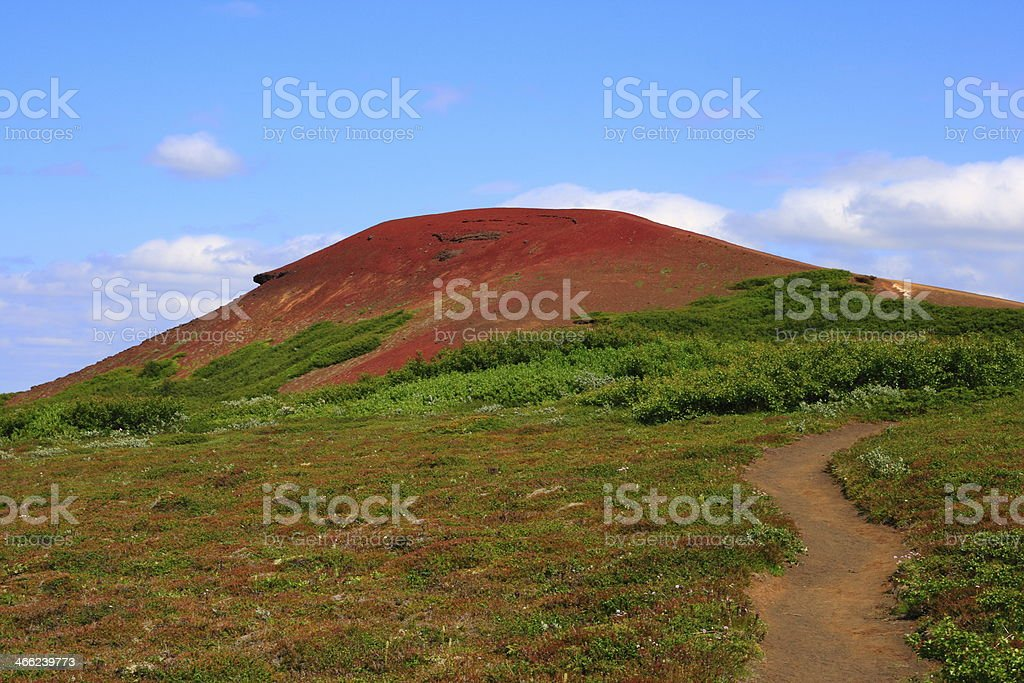 The volcano Raudholar royalty-free stock photo