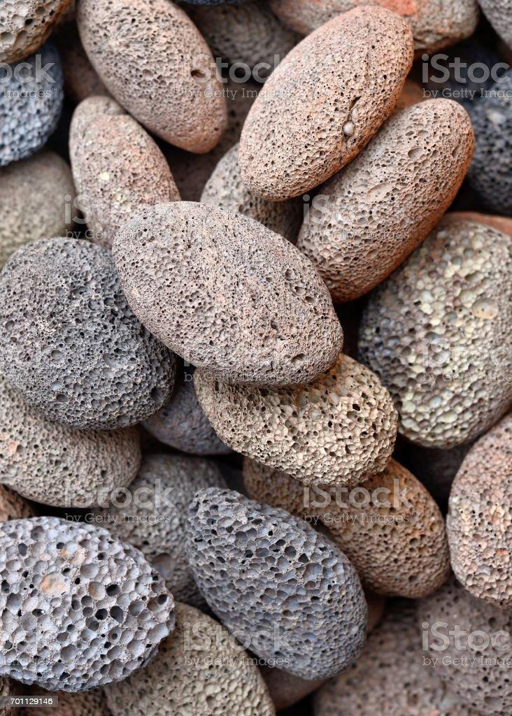The volcano spewed rocks stock photo