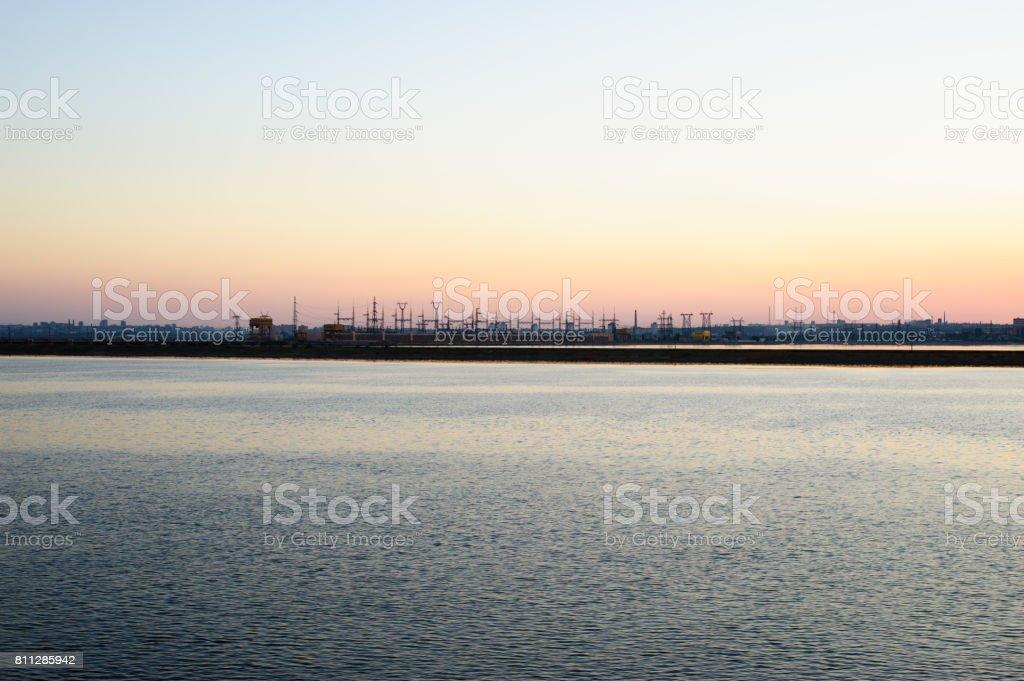 The Volga Hydroelectric Station or Volga GES stock photo