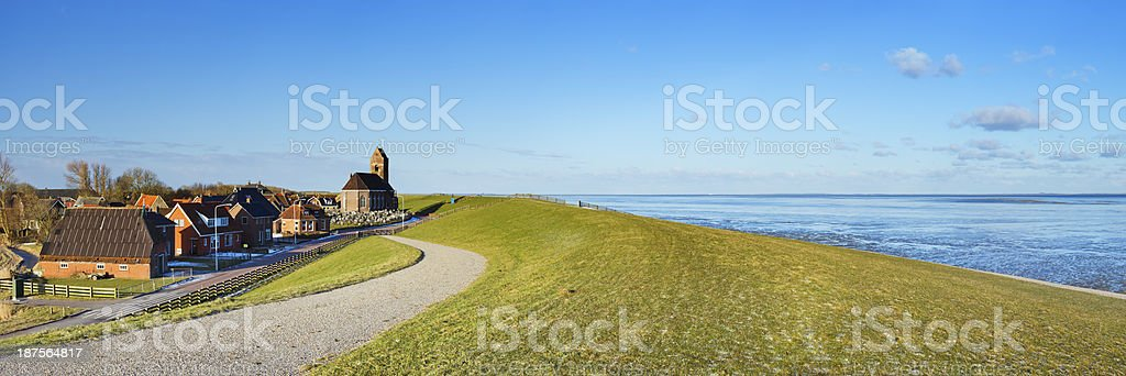 The Wadden Sea coast near Wierum, Friesland, The Netherlands stock photo