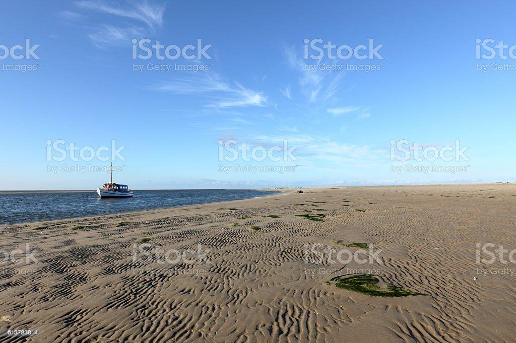The Wadden Sea in Schleswig Holstein stock photo