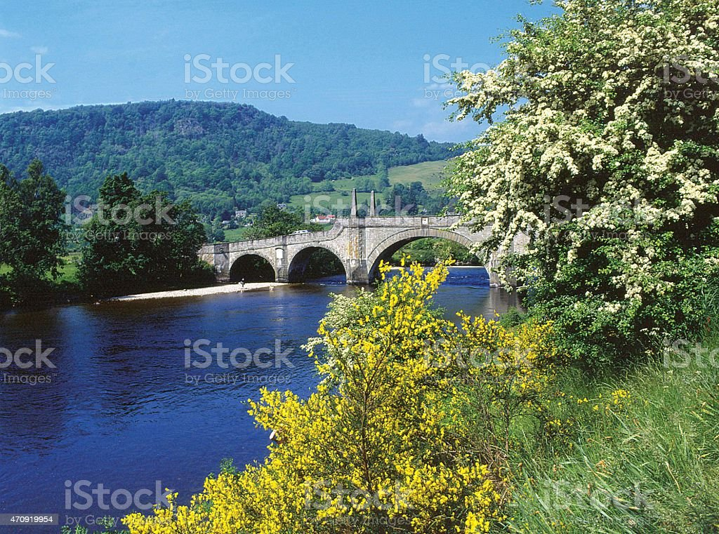 The Wade Bridge Aberfeldy Perthshire Scotland stock photo