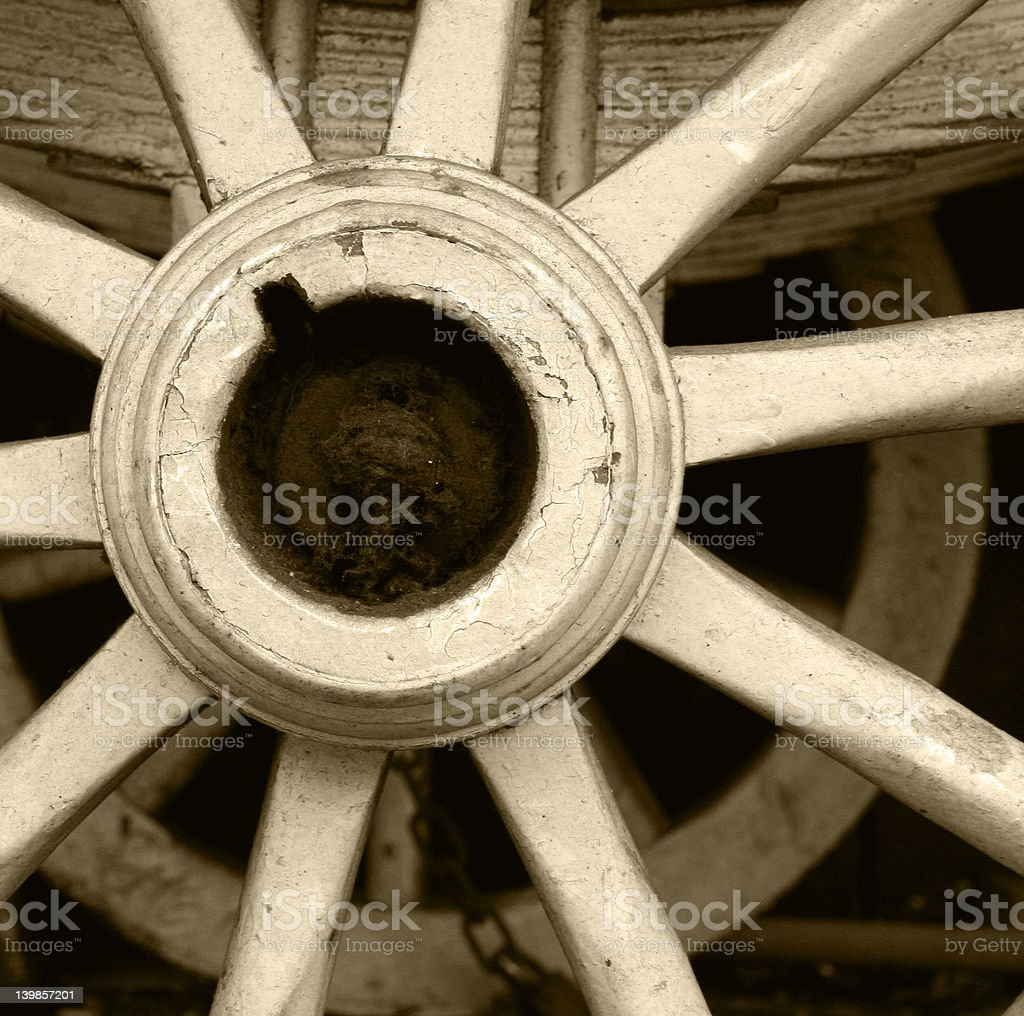 the wagon wheel royalty-free stock photo