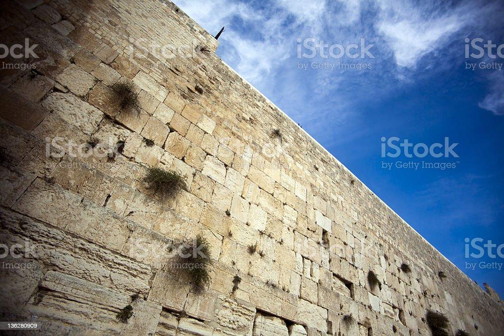 The Wailing Wall stock photo