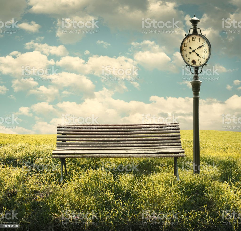 The Wait In Time stock photo