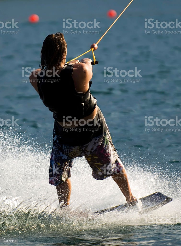 The wakeboarder stock photo
