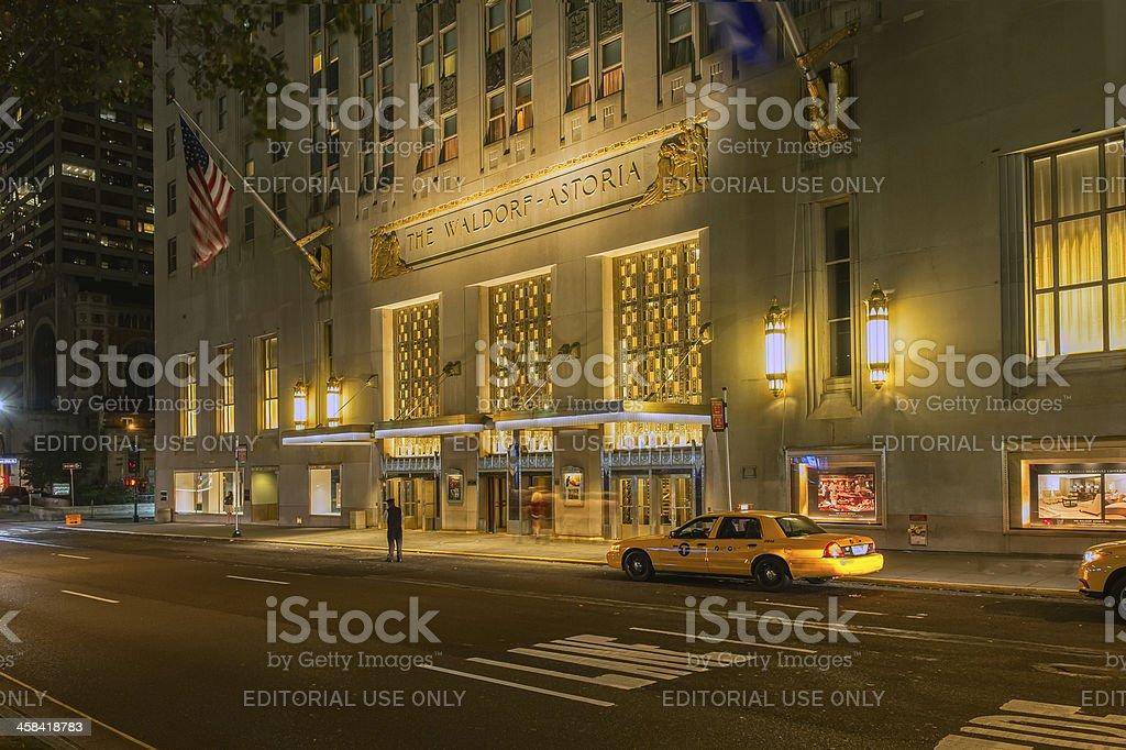 The Waldorf Astoria Hotel stock photo