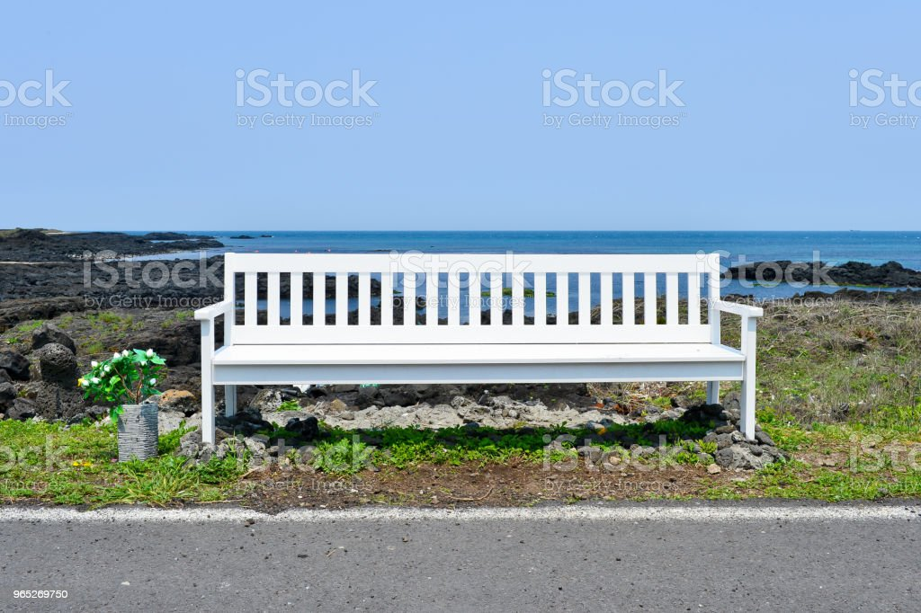 The Waljungli beach is good to rest a long while in the Jejudo island. royalty-free stock photo
