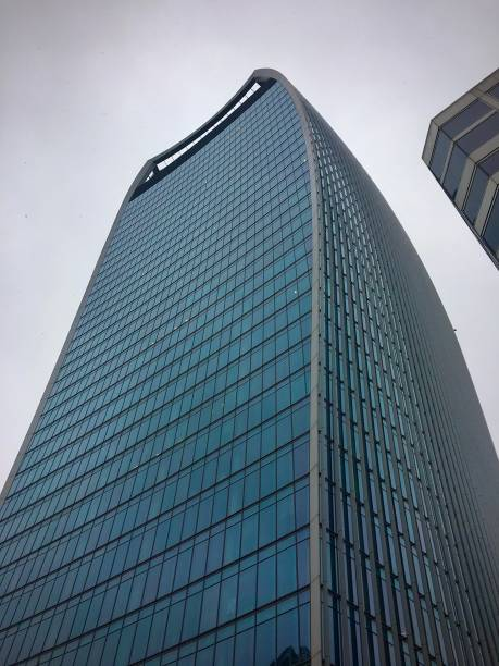 The Walkie Talkie building in the City of London. stock photo