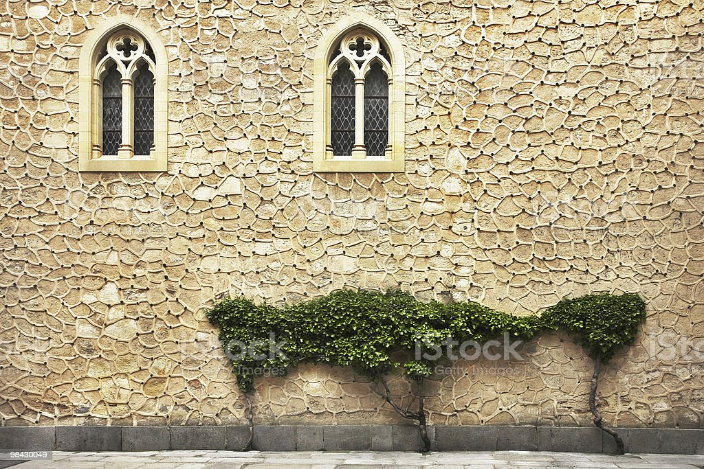 The wall of an ancient building royalty-free stock photo