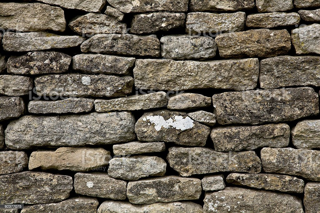 The wall of stones royalty-free stock photo