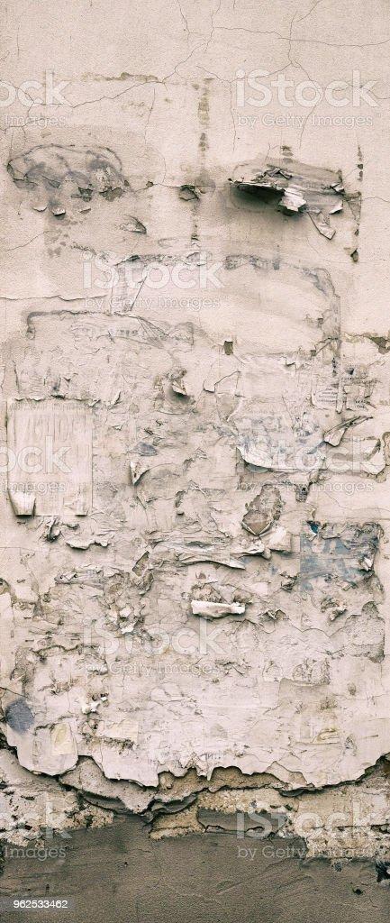 A parede da velha casa. Rachaduras na superfície. Plano de fundo - Foto de stock de Abstrato royalty-free