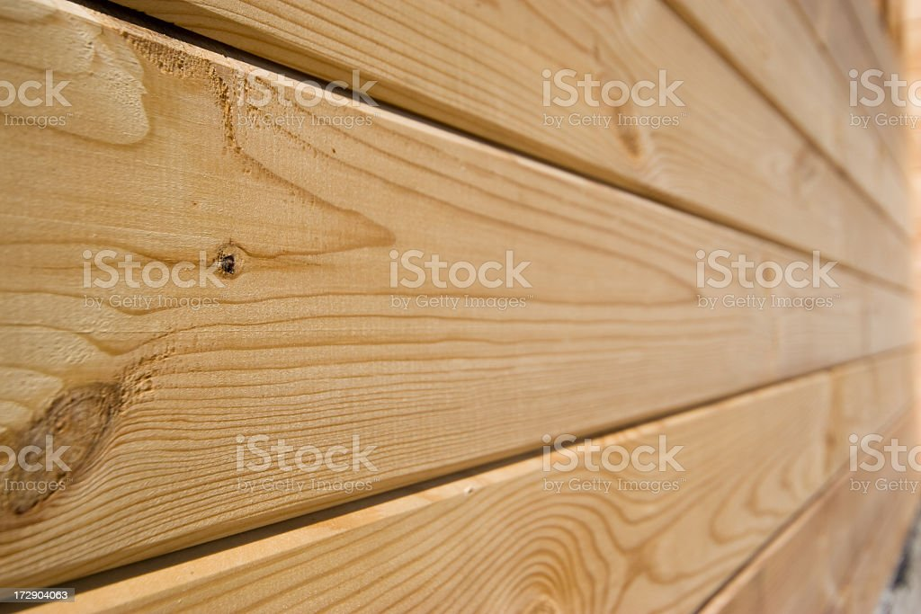 The wall of wooden house stock photo