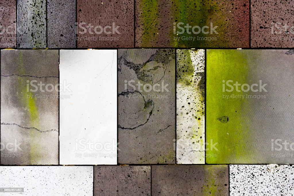 The Wall was made by colorful ceramic tiles to decorate outside building. zbiór zdjęć royalty-free