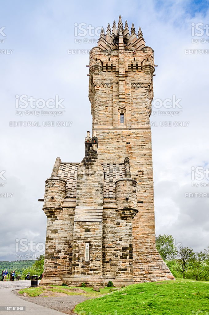 The Wallace Monument in Scottish Highlands, Scotland, United Kingdom. stock photo