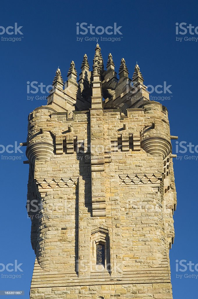 The Wallace Monument, Stirling, Scotland stock photo