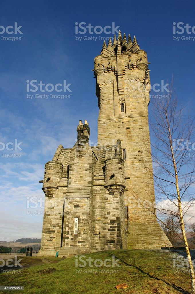 The Wallace Monument Stirling Scotland stock photo