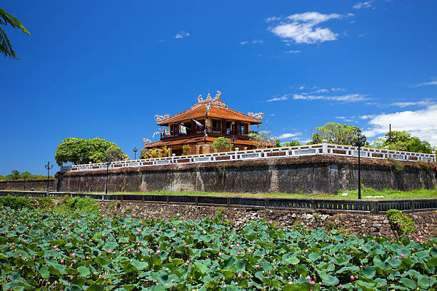 The Walls of Imperial City, or Citadel, in Hue, Vietnam Imperial city (citadel), Hue, Vietnam huế stock pictures, royalty-free photos & images