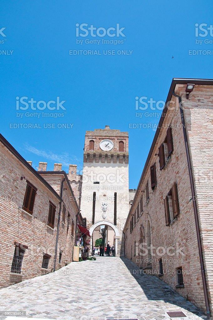 the walls of the beautiful city of gradara Стоковые фото Стоковая фотография