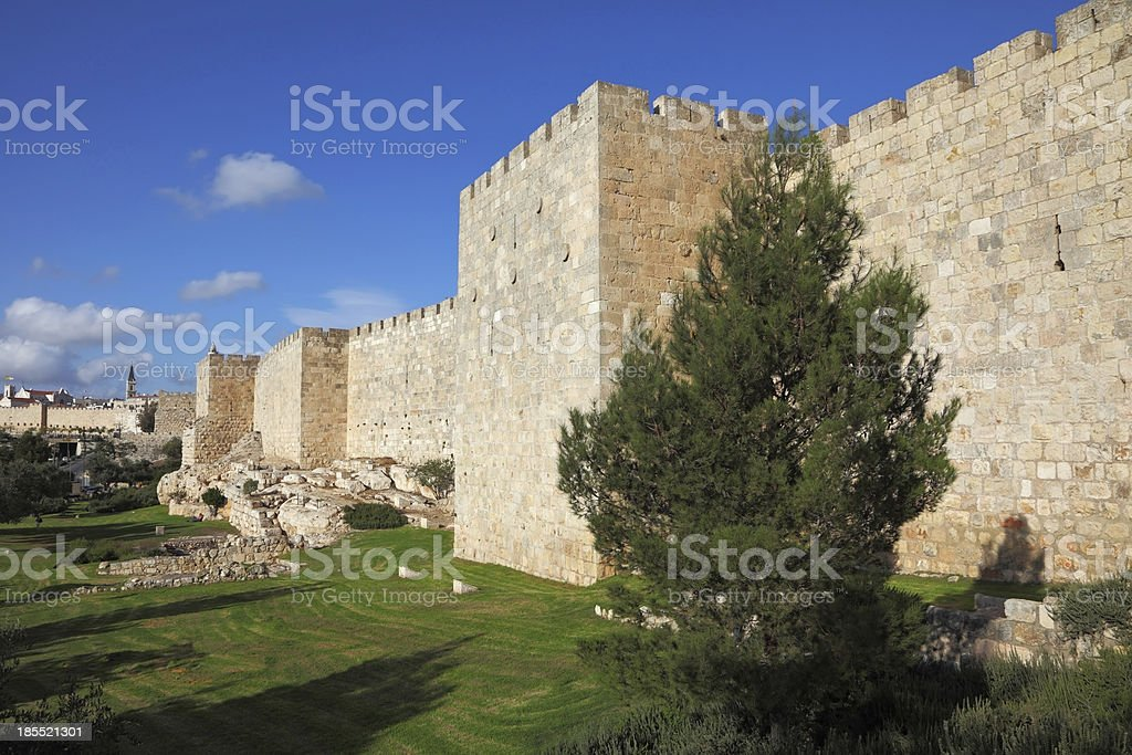 The walls royalty-free stock photo
