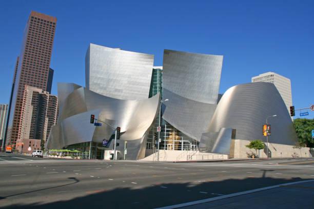 The Walt Disney Concert Hall in Los Angeles. stock photo