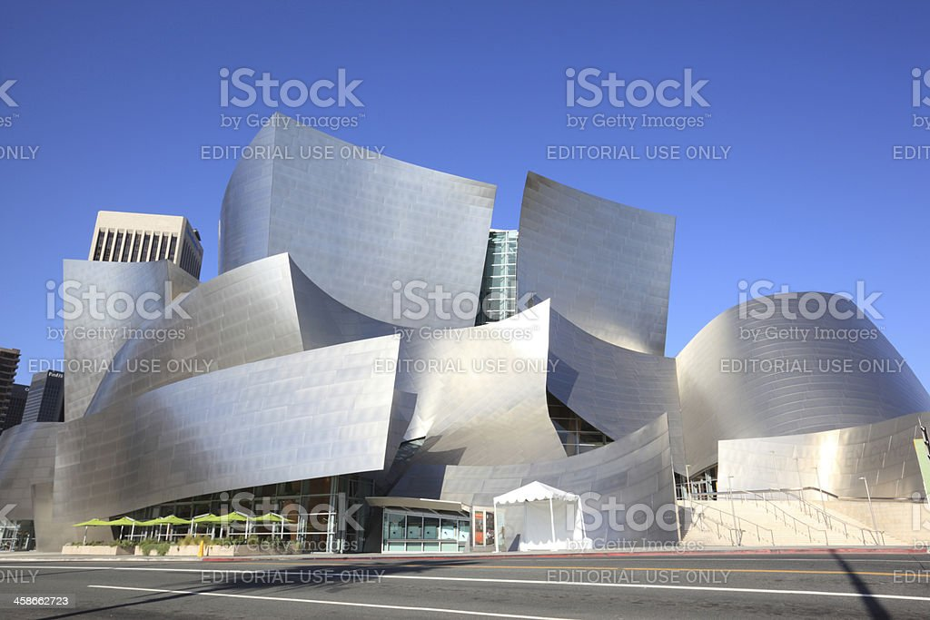 The Walt Disney Concert Hall, Los Angeles, California royalty-free stock photo