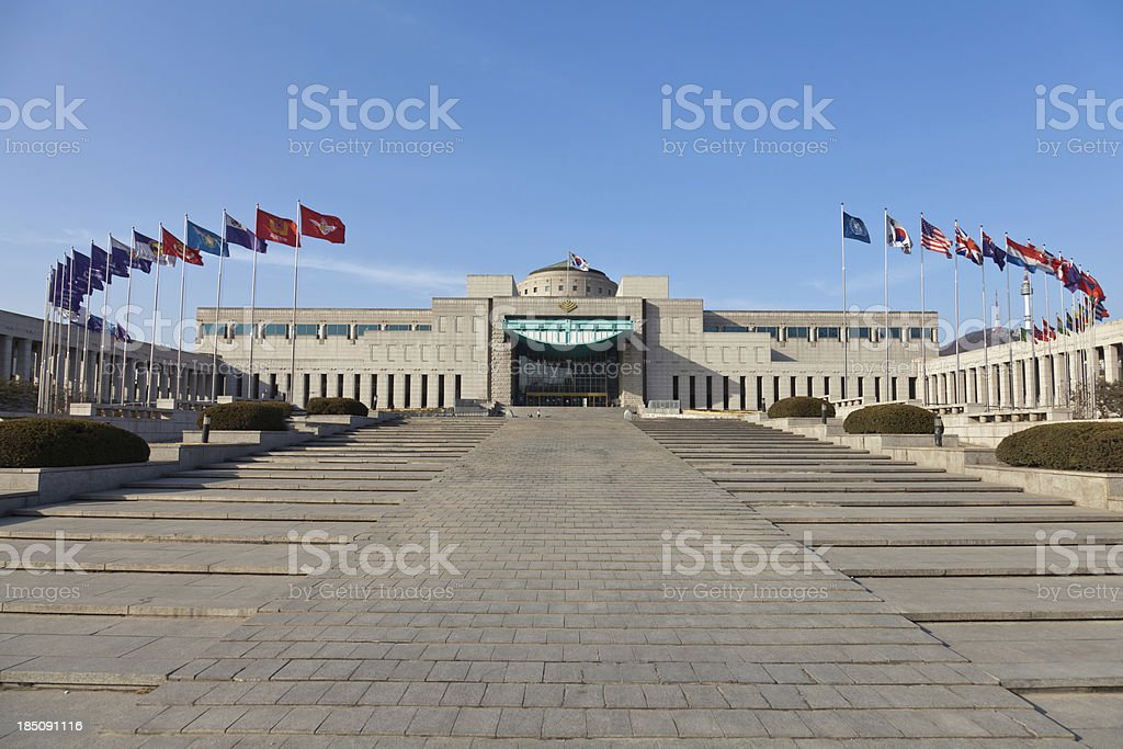 The War Memorial of Korea, Seoul stock photo