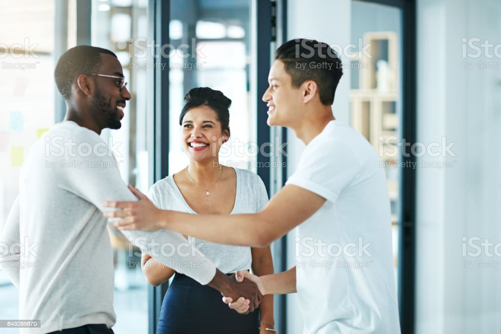 The warmest of welcomes stock photo