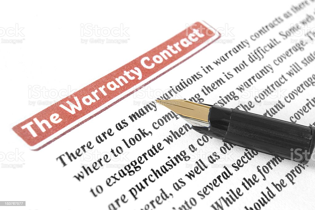 The Warranty Contract royalty-free stock photo