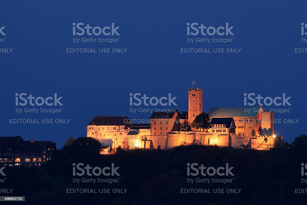 The Wartburg Castle at Eisenach in Germany stock photo