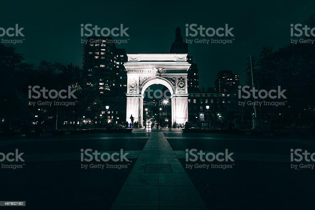 The Washington Square Arch stock photo