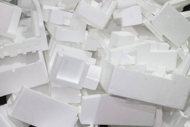 The waste pile of foam is not used. The waste pile of foam is not used. Unused foam waste. polystyrene stock pictures, royalty-free photos & images